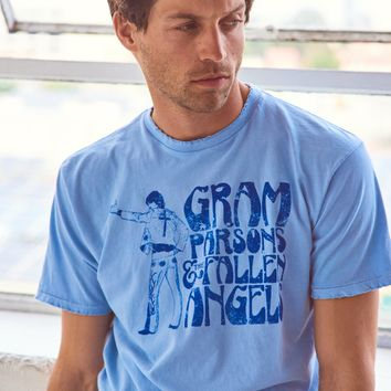 Gram Parson's Nudie Suit Men's Crew - Sky Blue