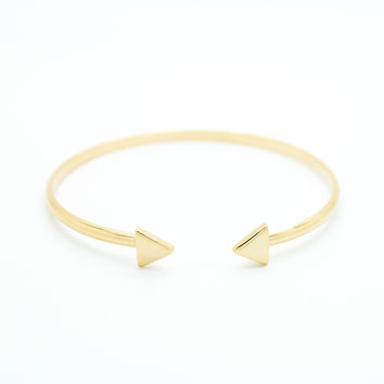 Triangles bangle bracelet