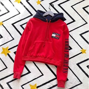 """ Tommy Hilfiger "" Women Hot Hoodie Cute Sweater"