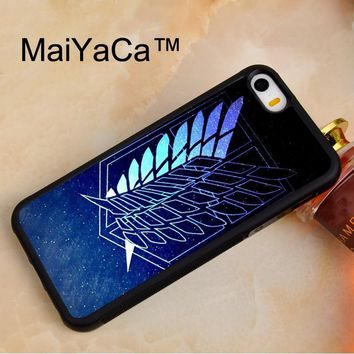 Cool Attack on Titan MaiYaCa  Wings Of Liberty Phone Case For iPhone 5 5s SE Protective Hard Plastic Phone Case Soft Rubber Back Cover AT_90_11