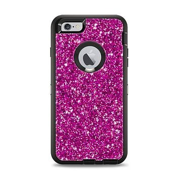 The Bright Pink Glitter Apple iPhone 6 Plus Otterbox Defender Case Skin Set