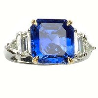 Cartier 7.51 Carat GIA Cert Burma Sapphire Diamond Gold Platinum Ring