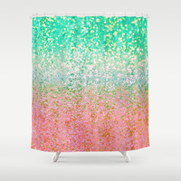 Summer Rain Merge Shower Curtain by Lisa Argyropoulos | Society6