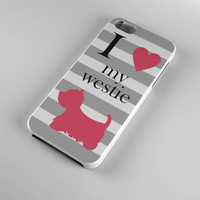 DS217-iPhone Case - Iphone 5 case-Iphone 5s case - Iphone 4 case - Iphone 4s case - Iphone Cover - Dog Westie Keep Calm iPhone Case