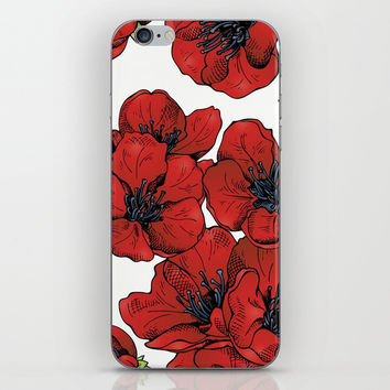 Poppies Pattern iPhone & iPod Skin by MIKART