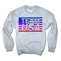 Team USA Jumper | 4th of July Sweatshirt | 4th of July Shirts | Fourth of July Tank Tops | Womens 4th of July Clothing Merica Jumper Crew