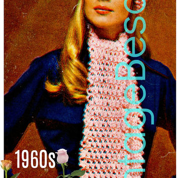 Digital Download - 1960s Ladies Scarf and Beret - Turban Style Vintage Crochet Pattern Retro Crochet Pattern Instant Download - PDF Pattern