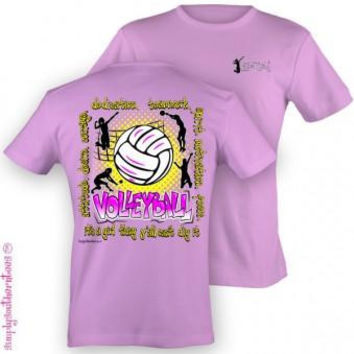 Simply Southern Funny Volleyball Sweet Girlie Bright T Shirt