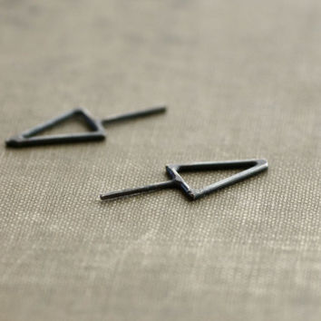 Black Arrow Sterling Silver Stud Earrings