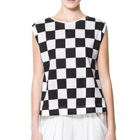 CHECKERED T - SHIRT - Woman - New this week | ZARA United States