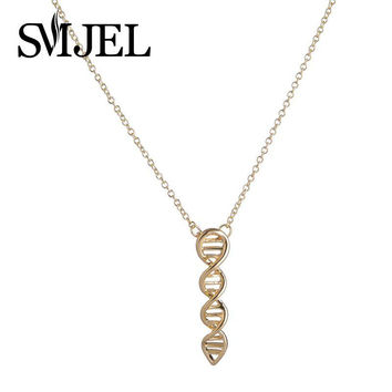 2016 New Fashion Science Jewelry DNA Necklace Biology Jewelry Molecule Necklace for Women N209