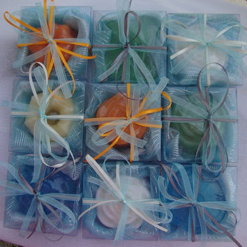 Handmade Bombonniere/Baby Shower Favors/Guest Gifts - Set of 14 Scented Soaps boxes! Ideal for Boy's Baptism, Cresima, Party, Bithday