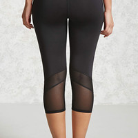 Active Mesh-Insert Capri Leggings