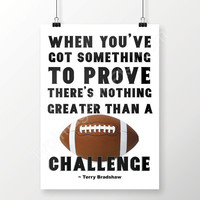 Football Printable Football Poster Sports Decor, When You've Got Something to Prove Instant Download