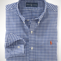 Slim-Fit Gingham Poplin
