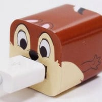Disney Iphone Charger USB Skin Sticker Wrap -Sticker Only Not Include Charger ( Chip 'N' Dale - Chip)