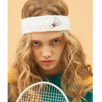Sporty Girl Elastic Headband - Badminton