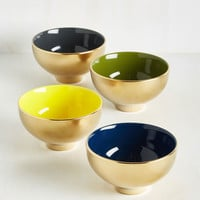 Gold Crush Bowl Set | Mod Retro Vintage Kitchen | ModCloth.com