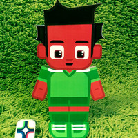 Nigeria football soccer craft activity. Printable paper toy. Instant download. Make you own cards, banners and football soccer bunting!