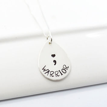I AM LOVED Semicolon Inspirational Necklace