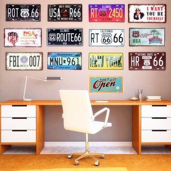 License Plate Wall Decor