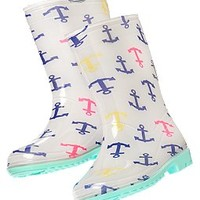 Anchor Print Rainboot