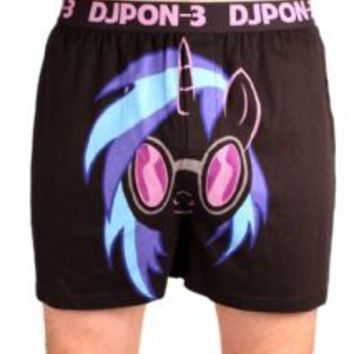 My Little Pony DJ Pon-3 Adult Black Boxer
