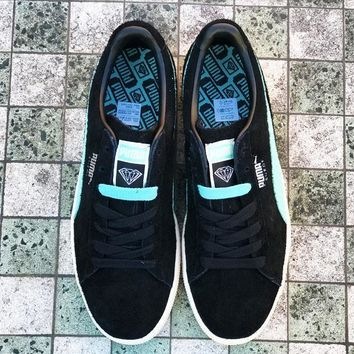 PUMA SUEDE X DIAMOND SUPPLY CO - DIAMOND BLUE/PUMA BLACK