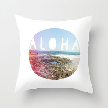 Aloha Throw Pillow by Sunkissed Laughter