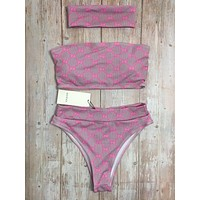 Pink GUCCI One Piece Swimwear Bikini Set GUC09