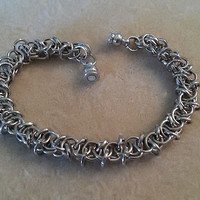 Men's Elf Weave Chainmaille Bracelet, Chainmaille Bracelet, Chainmaille Jewelry, Men's Jewelry