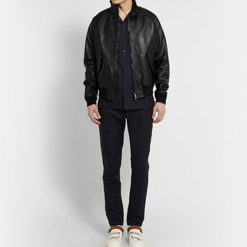 Acne Studios - Ashton Leather Bomber Jacket | MR PORTER