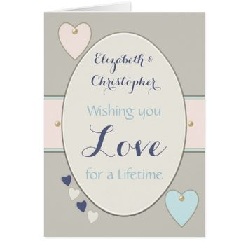 Wedding Day Greeting Card shabby chic floral