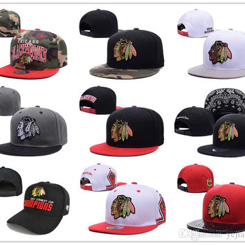 2015 New style Arrived Chicago Blackhawks gorras planas Hat Adjustable Baseball bones aba reta Snapback Hockey Cap Adjustable Hiphop chapeu