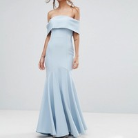 Jarlo Bandeau Maxi Dress with Fishtail at asos.com