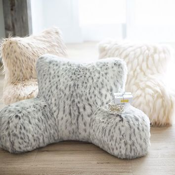 Faux-Fur Lounge Around Pillows