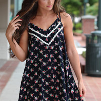 Flowers For You Navy Dress – Dress Up