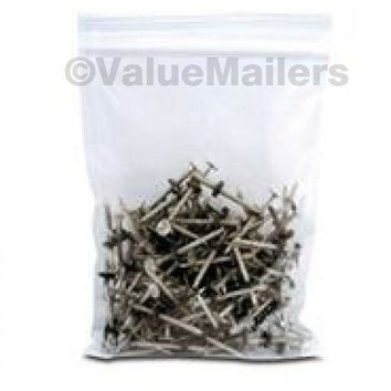 1000 3x4 Clear Plastic Zipper Poly Locking Reclosable Bags 2 MiL