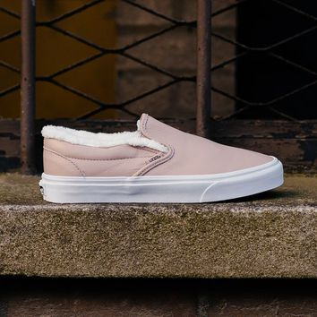qiyif Vans Leather Sherpa Slip-On VA38F7QTR