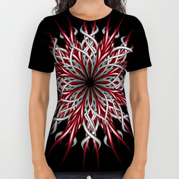 Mandala silver and red All Over Print Shirt by VanessaGF | Society6