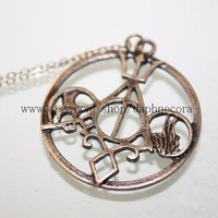 bronze Harry Potter,The Mortal Instruments, Katniss Everdeen jewelry, Divergent and Percy Jackson necklace