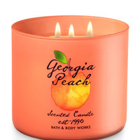Georgia Peach 3-Wick Candle | Bath And Body Works