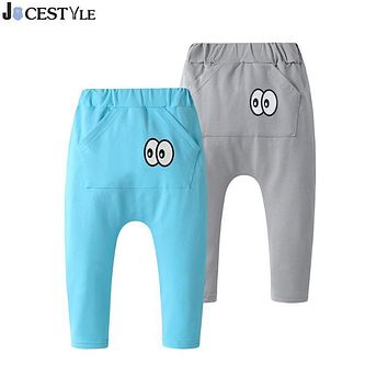 Newborn Infant Baby Pants Casual Toddler Boys Girls Bloomers PP long Pants Casual Bebe Leggings Cartoon Eyes Pocket Trousers
