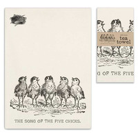 Farmhouse Style (set of 4) Song of the Five Chicks Tea Towels