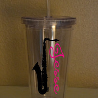 Marching Band Tumbler - Personalized Saxophone Tumbler