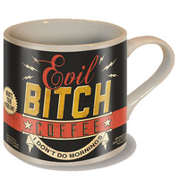 """Evil Bitch"" Coffee Mug by Trixie & Milo"