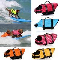 Pet Dog Life Jacket Safety Clothes for Pet Puppy Life Vest Outward Saver Swimming Preserver Swimwear Large Dog Life Jacket 30S2Q