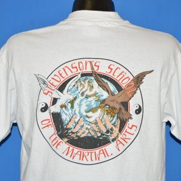 80s Stevenson's School Of The Martial Arts t-shirt Large