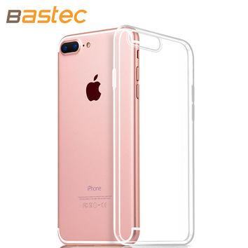 Bastec Clear TPU Phone Case for iPhone 7 7 Plus 6 6s Plus 5 5s se  0.3mm Ultra Thin HD Clear Crystal Soft Phone Cover Case