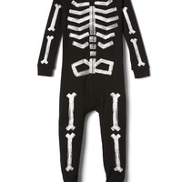 Glow-in-the-dark skeleton sleep one-piece | Gap